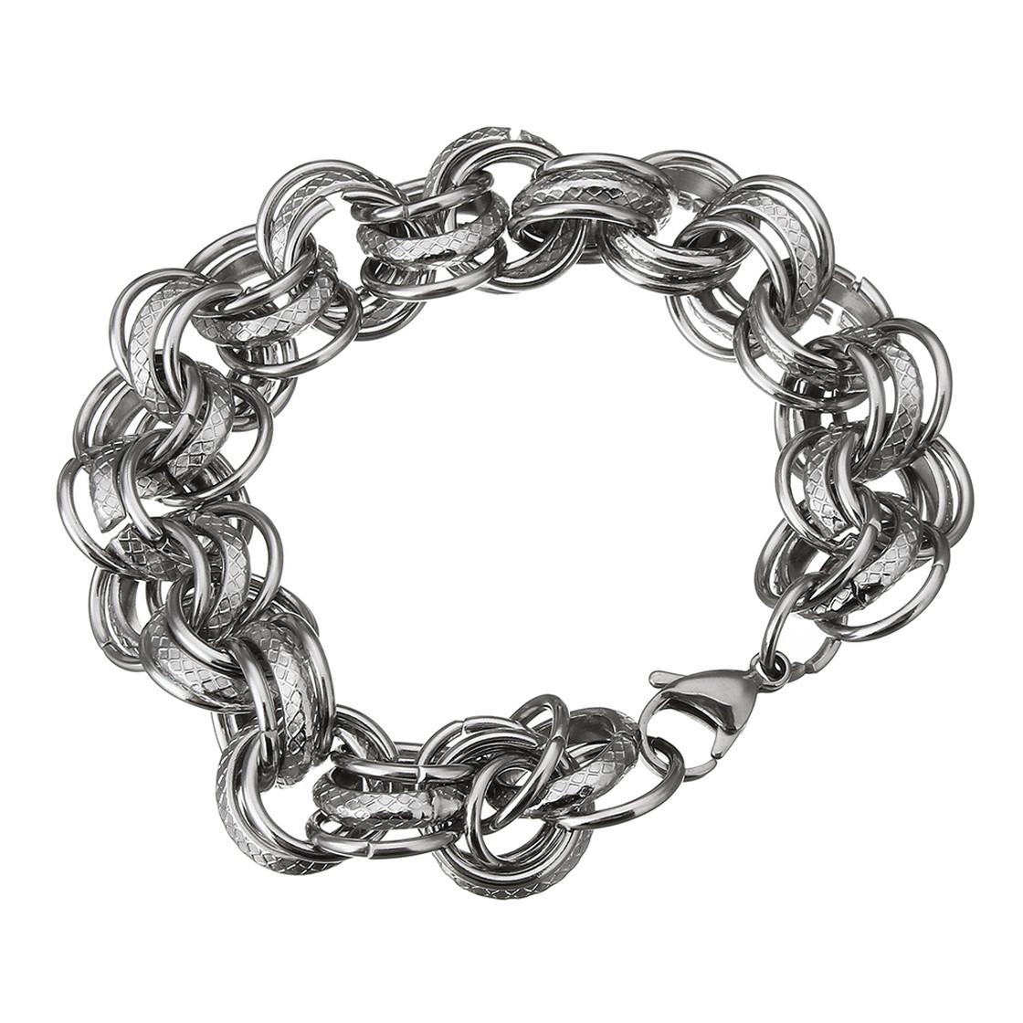 Armband, Edelstahl, Silberfarben, Design ?Fantasy?, Damen