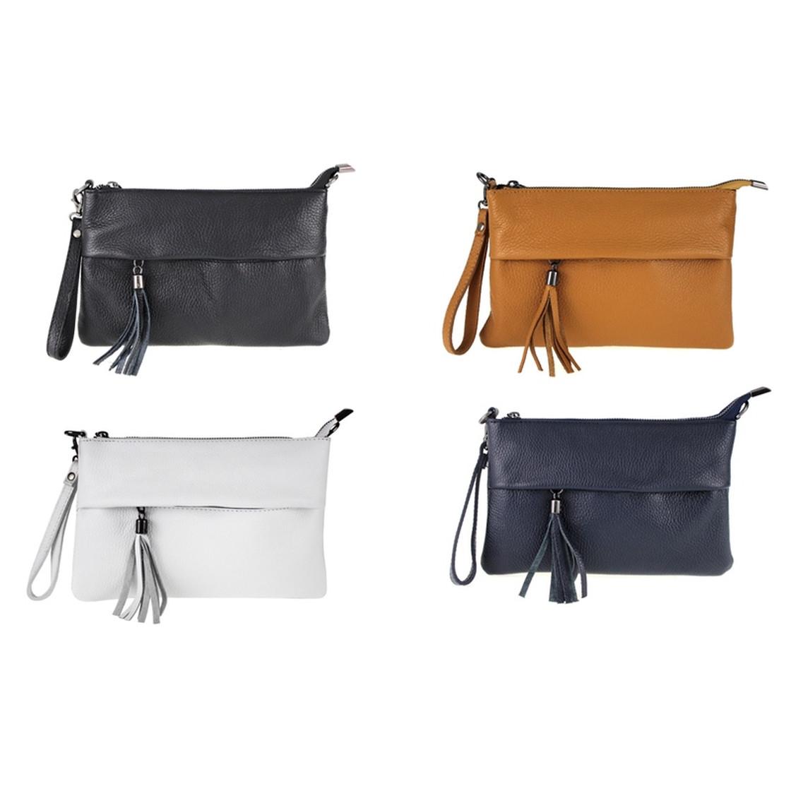 Los Angeles angenehmes Gefühl Modestil Handgelenktasche Unterarmtasche Umhängetasche Mehrere Farben Echt Leder  Damen Made in Italy